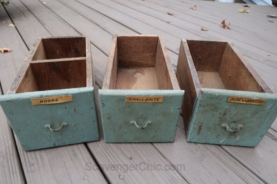 Upcycled, Recycled, Repurposed Drawer Shelves