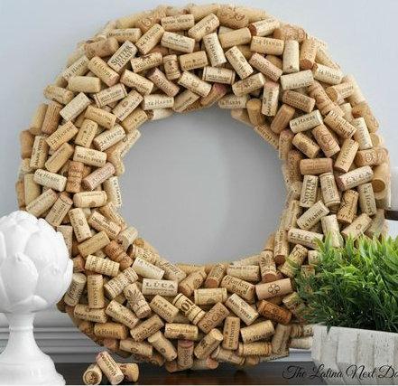 DIY and Homemade Gifts - Cork Wreath