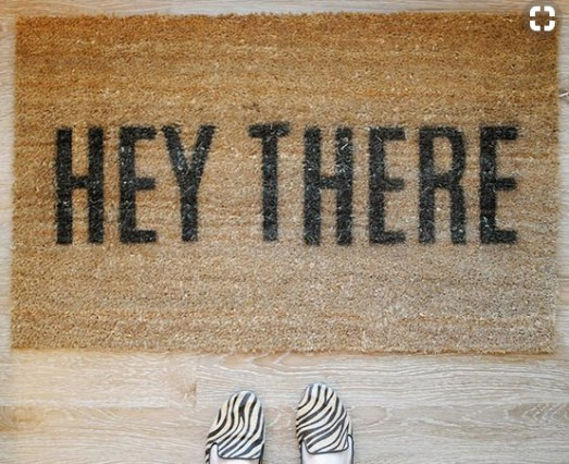 DIY and Homemade Gifts - Stenciled Welcome Mat.bmp