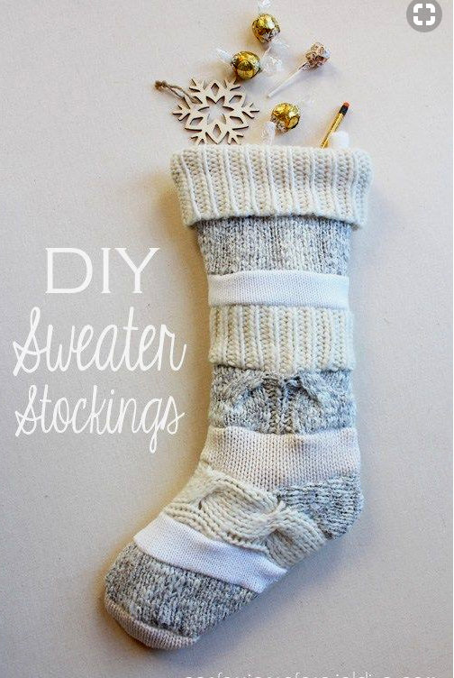 DIY and Homemade Gifts - Sweater Stocking