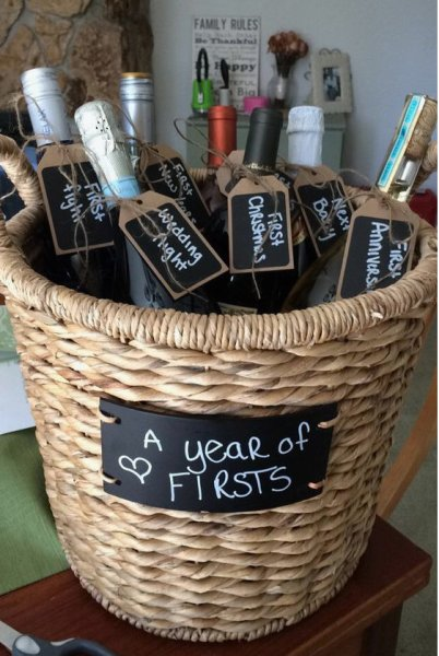 Homemade and DIY Gifts - Basket of Wine