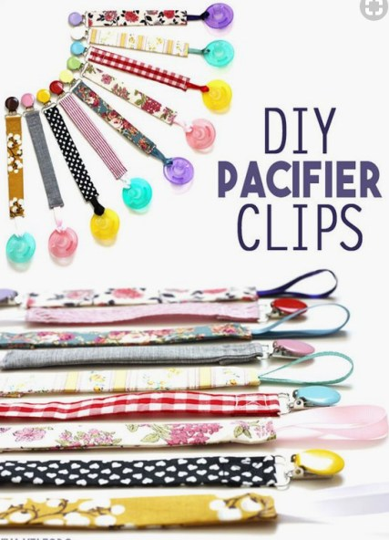 Homemade and DIY Gifts - DIY Pacifier Clips.bmp