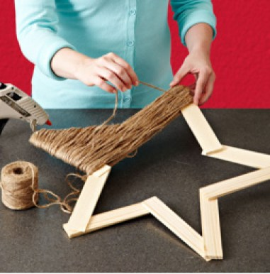 Homemade and DIY Gifts -Twine Star Decoration .bmp