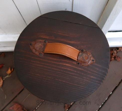 Replacement Lid from Scrap Wood and a Belt