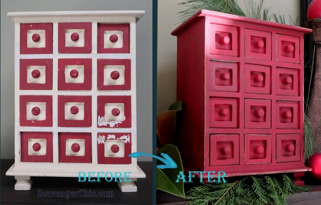 A little paint can make a huge difference. Thrift Store Jewelry Box Makeover-001
