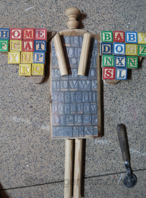 Baby Block and Letters Junk Angel