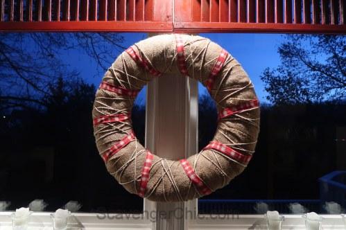 Burlap and Twine All Season Wreath easy DIY