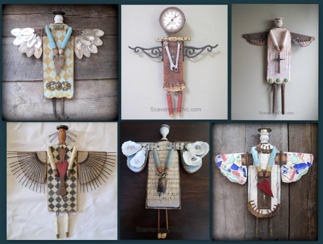 Junk angel ideas and DIY