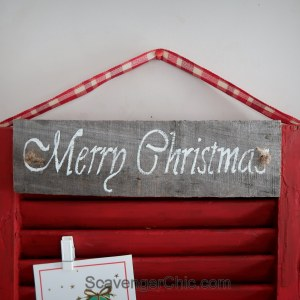 Shutter Christmas Card Holder