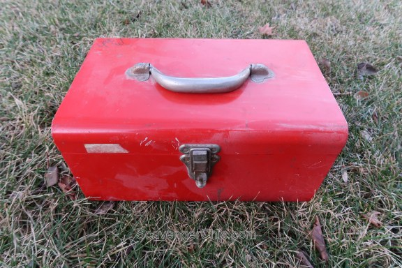 Thrift Store Treasures-red toolbox