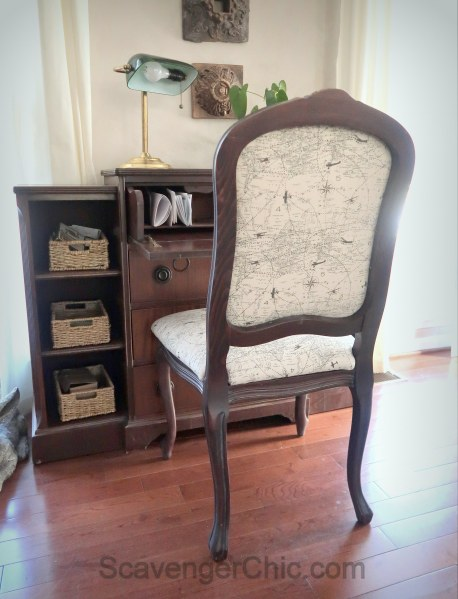 Upholstered French style chair makeover diy-018