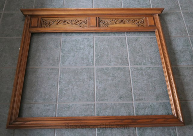 Upcycled Frame, Mantel and fireplace surround