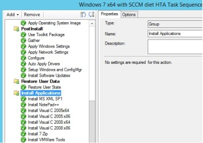 Running HTA from task sequence | SCCM diet