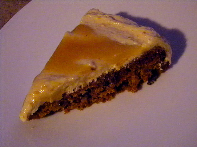SCD Recipe: Carrot Cake with Creamy Caramel Peanut Butter Frosting