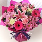 Pink Mix Hand Tied