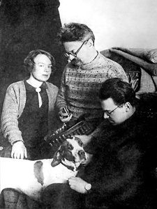 Trotsky and family in exile