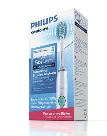 Philips Sonicare HX6510/22 EasyCleanElektrische Zahnbürste mit Schalltechnologie, weiß -
