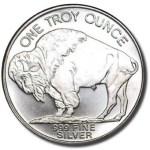 one ounce silver round buffalo coin