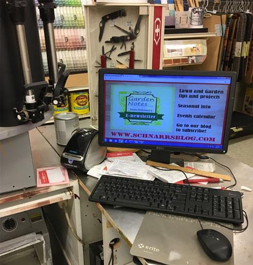 SHOWCloud on a desktop computer monitor