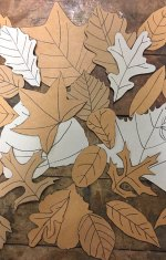 Chipboard leaves made as templates