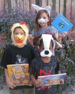 Even the smallest bit of costume helps kids transform into book characters. Watch for sales around Halloween.