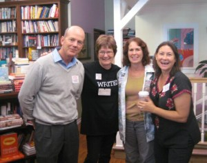 Authors Greg Trine, Alexis O'Neill, Mary Ann Fraser and Amy Koss did a showcase together at the Ventura County Reading Association's Book Love event.