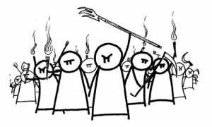 Google - Angry Mob - Cartoon2