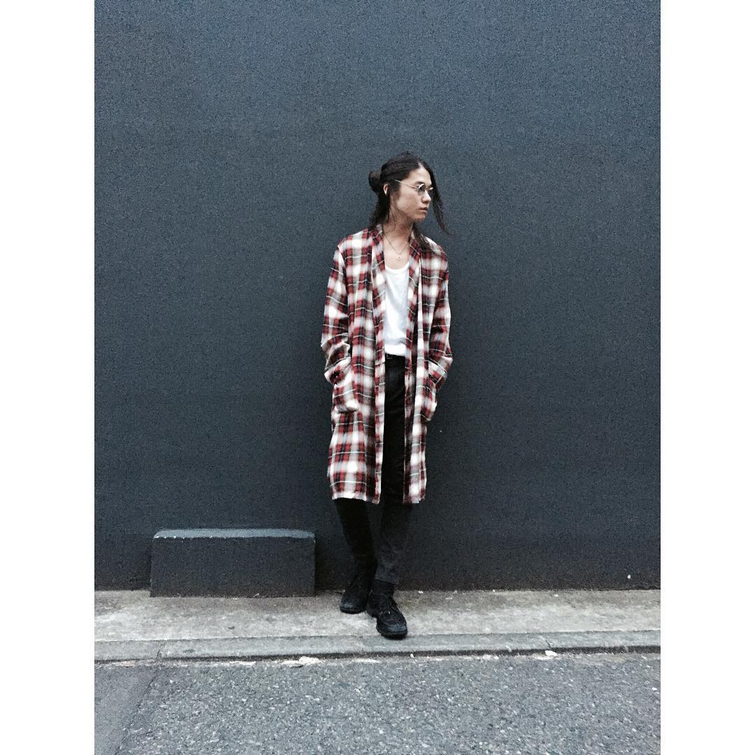 Vintage Shadow Check Rayon Gown styling blog