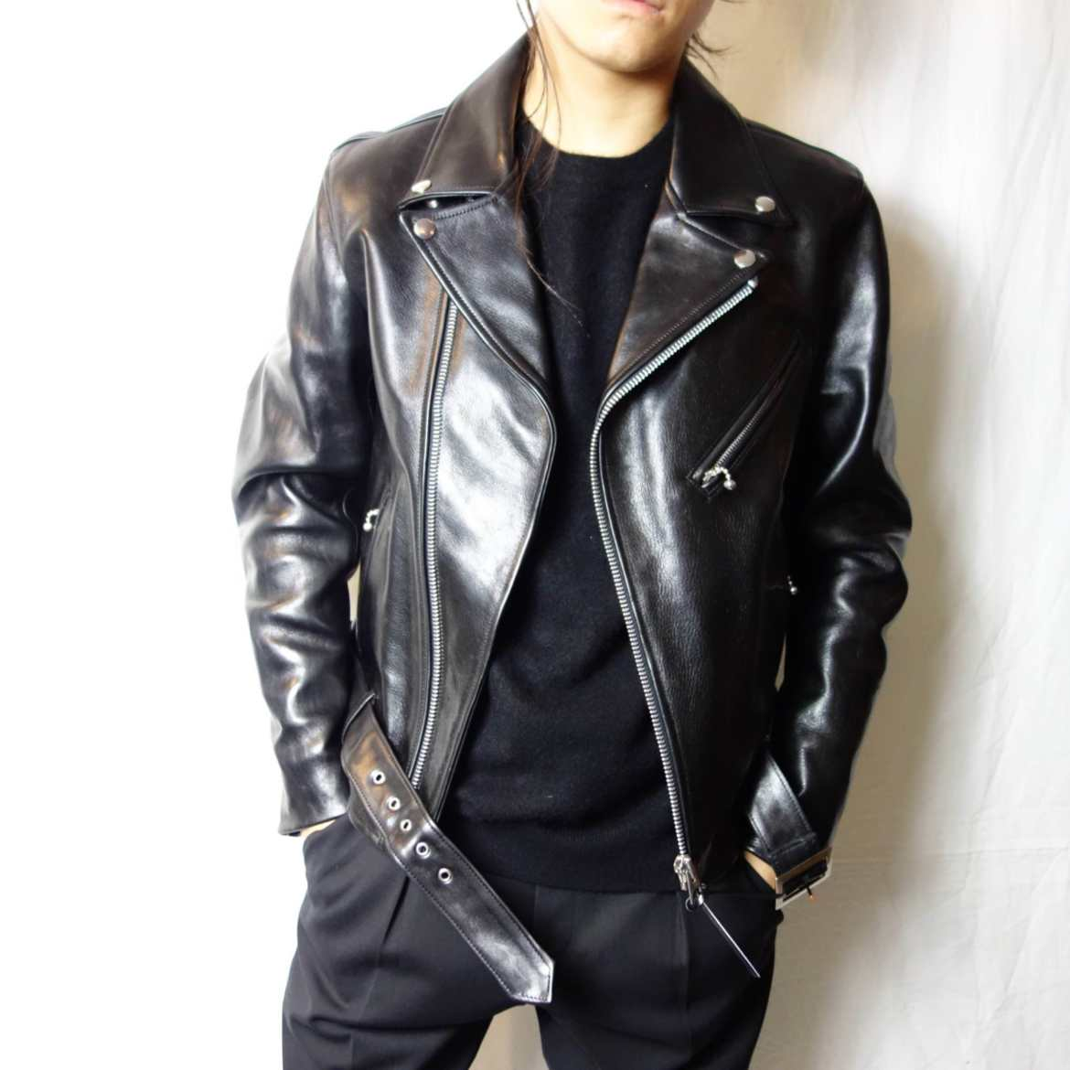 """WYATT"" Horse Hide Double Riders Jacket wyatt blog"