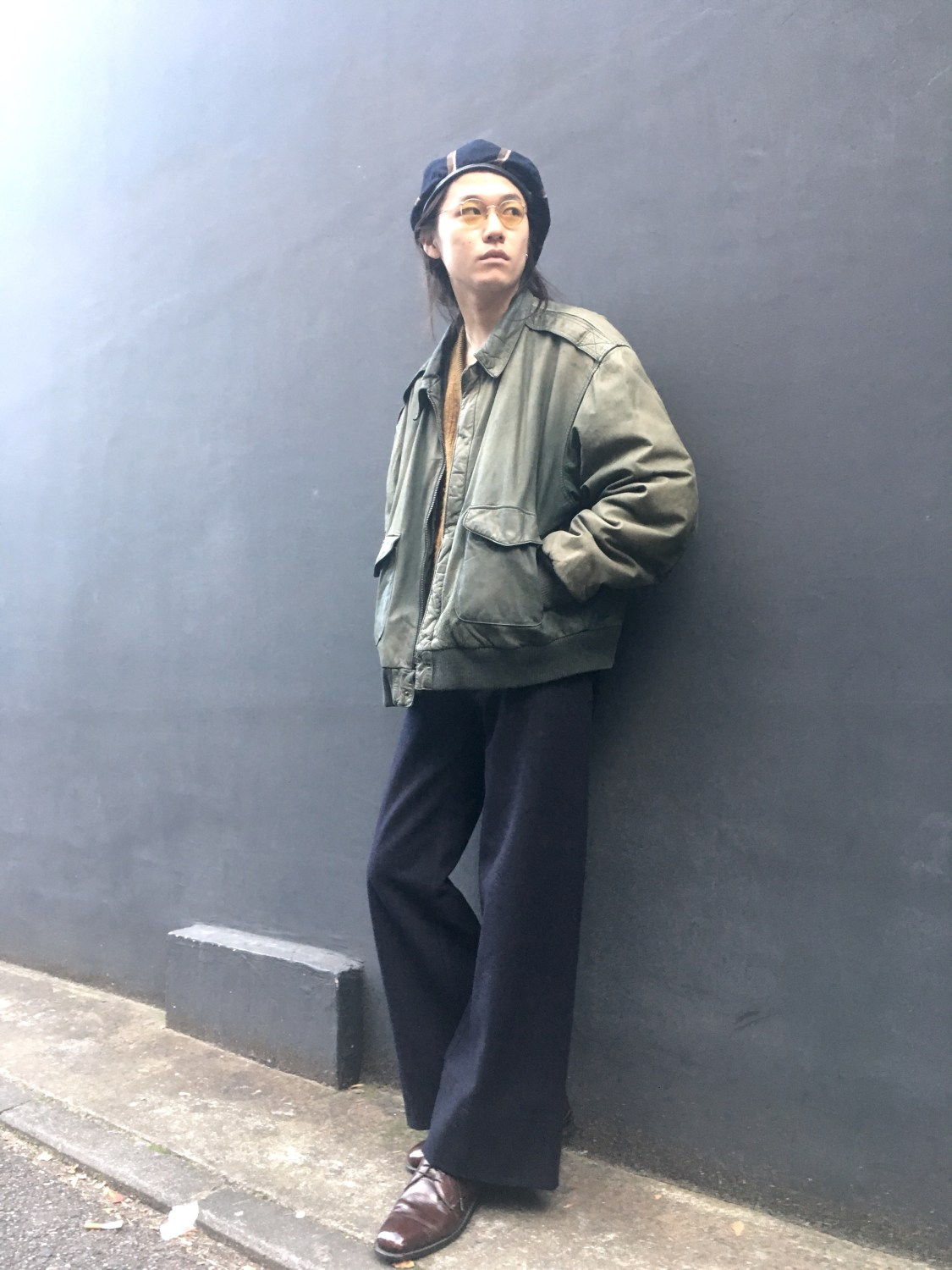 Leather Blouson〜Big Silhouette vintage styling blog