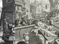 William Hogarth's Beer St and Gin Lane