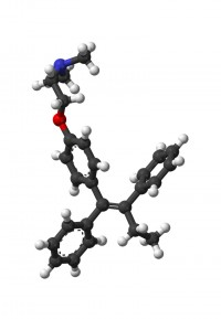 The tamoxifen molecule