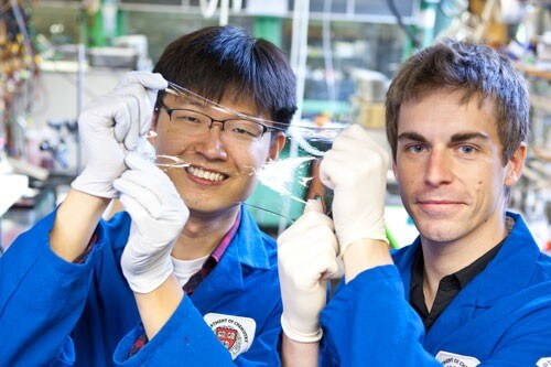 Transparent artificial muscle doubles as an audio speaker