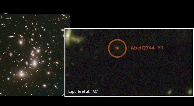 Hubble and Spitzer space telescopes 'spy' one of the youngest galaxies in the Universe