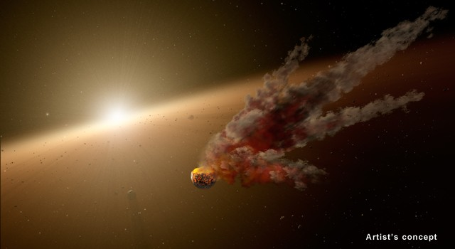 NASA's Spitzer Telescope Witnesses Asteroid Smashup