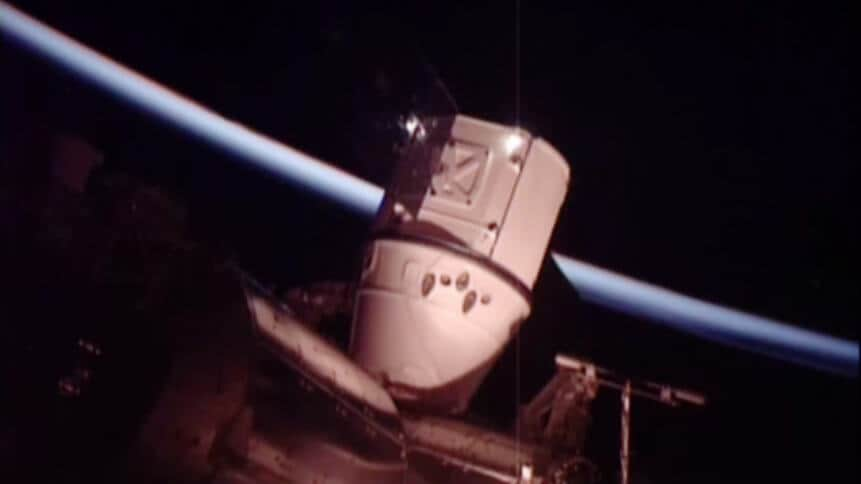 Dragon Attached to Station's Harmony Module
