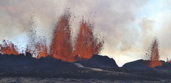 Chasing the volcano