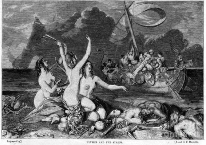 Sirens and mermaids