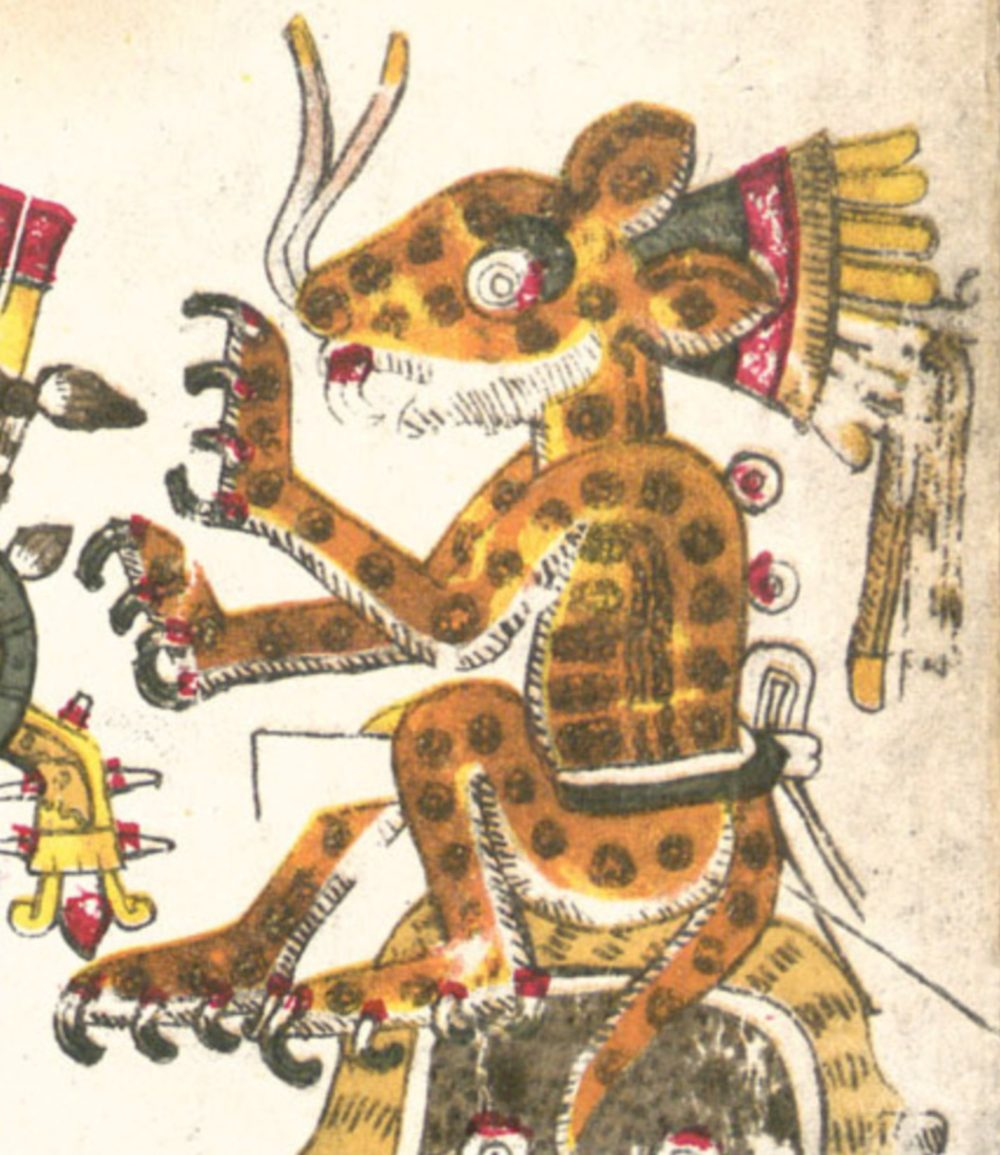 Tezcatlipoca — Jaguars, The Night Sky, Obsidian, Divination, The Night's Winds, The Smoking/Erupting Mirror, & The Days