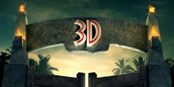Jurassic Park 3D poster wide