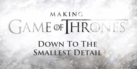 Game of Thrones s3 Making of title screen wide