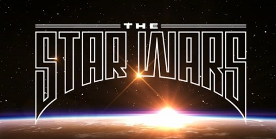 The Star Wars comic logo wide