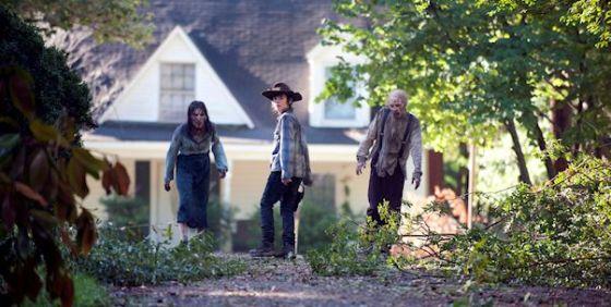 The Walking Dead Season 4B Carl walkers wide