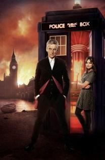 Picture shows: Peter Capaldi as The Doctor and Jenna Coleman as Clara