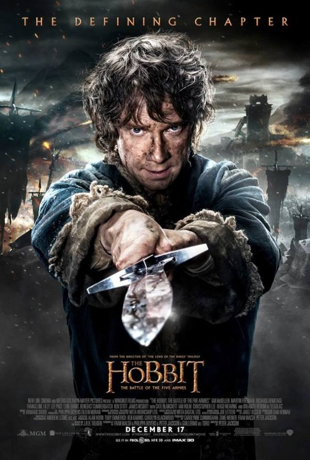 The Hobbit TBOTFA theatrical poster Bilbo sting