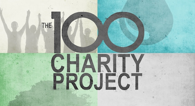 The 100 Charity logo wide1