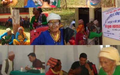 Health camp in Nepal for seniors
