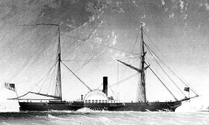 With the commissioning of the second Fulton, steam had entered the fleet to stay -- note the paddle-wheel -- a design that would dominate early sea going steam ships.