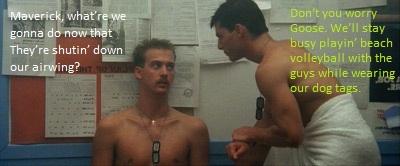 Maverick and Goose make plans.