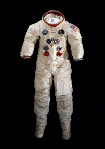 Neil Armstrong's spacesuit as it appears today.  (Credit: Mark Avino, National Air and Space Museum, Smithsonian Institution)